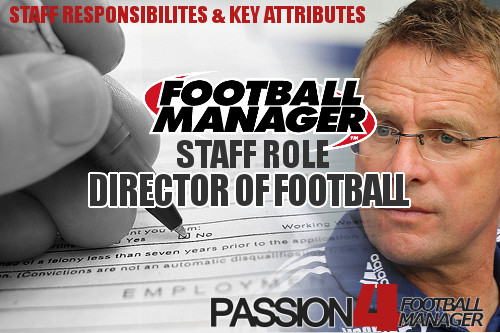 Football Manager staff role Director of Football