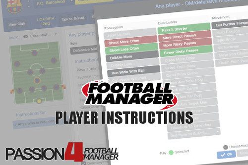 Football Manager Player Instructions
